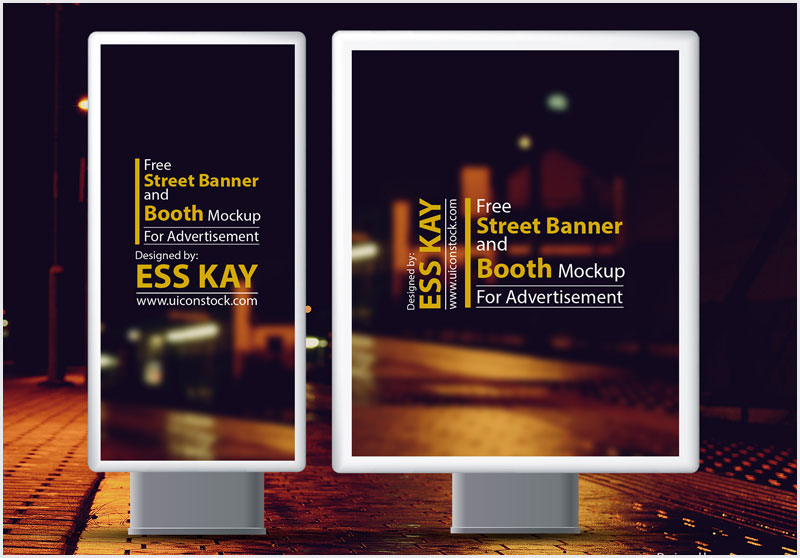 Free-Street-Banner-and-Booth-Mockup-For-Advertisement