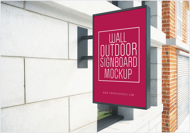 Free-Wall-Outdoor-Signboard-Mock-up