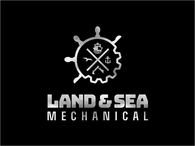 Logo-Design-for-Land-and-Sea-Mechanical
