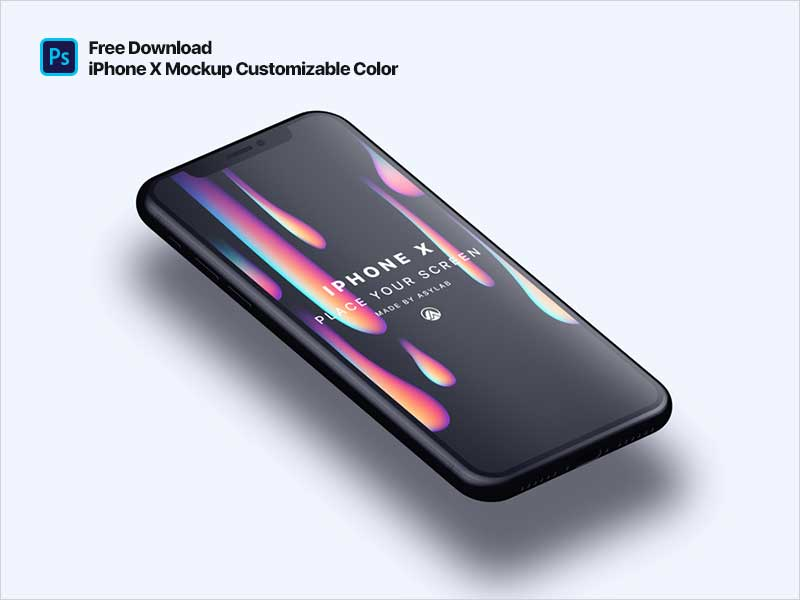 iPhone-X-Customizable-Color-Perspective-Mockup
