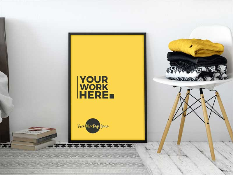 Free-Room-Interior-Standing-Poster-Mockup