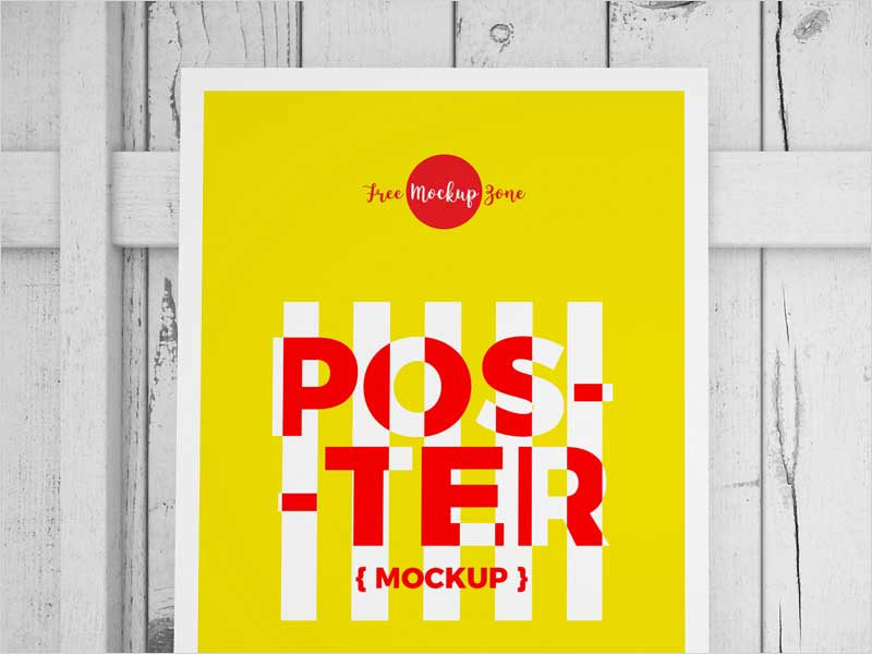 Free-Standing-Poster-On-Wood-Mockup-2018