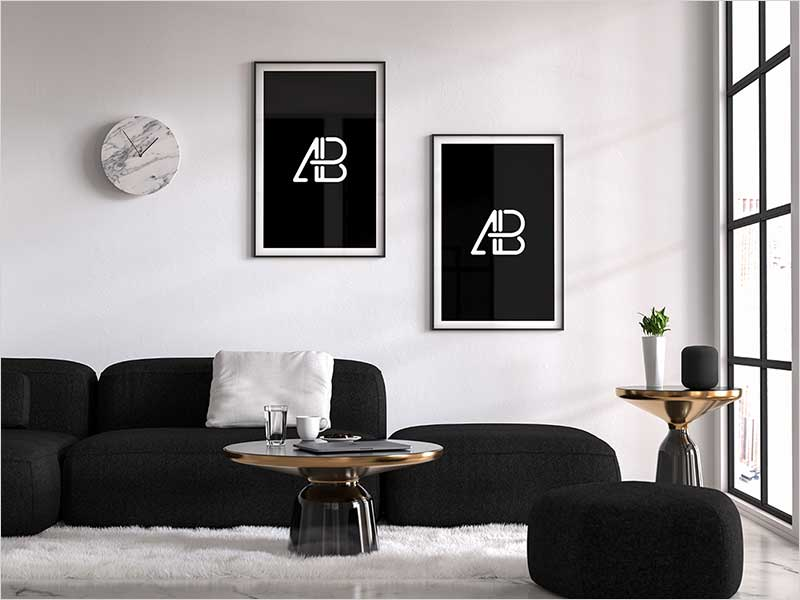 Modern-Free-Double-Poster-Mockup