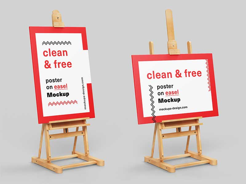 Poster-On-Easel-Mockup