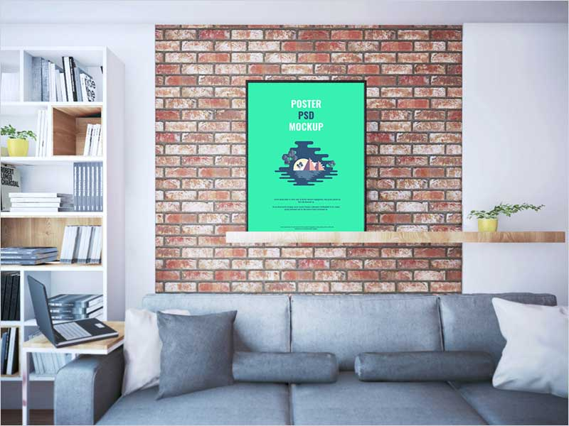 Poster-On-Shelf-PSD-Mockup
