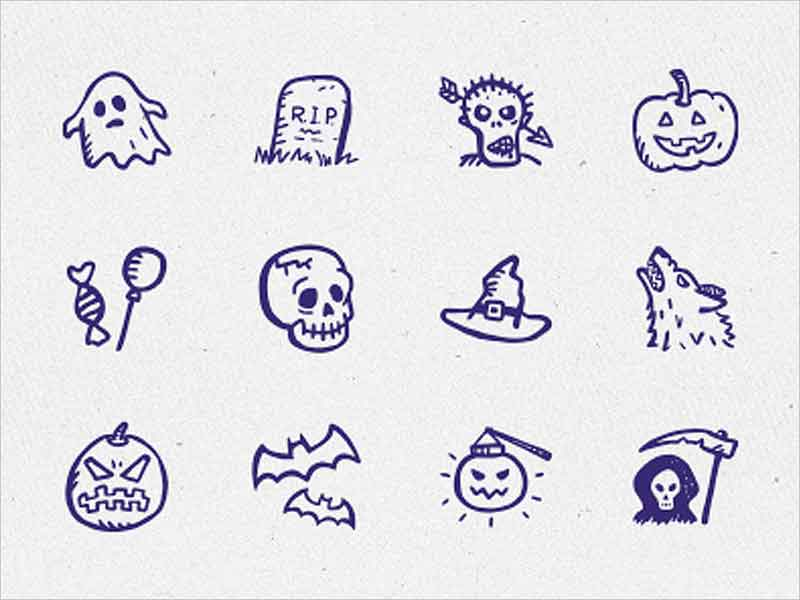 12-hand-drawn-Halloween-icons