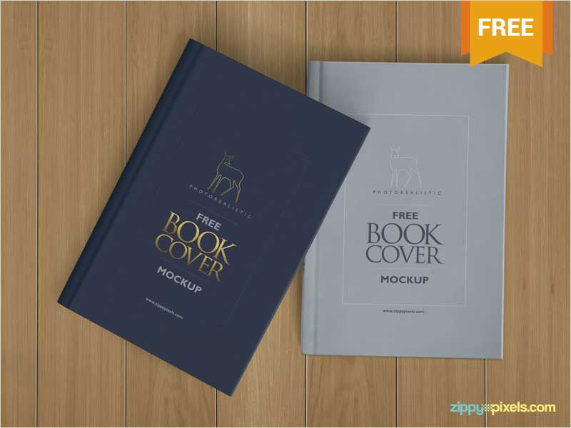 Free-Beautiful-Hardcover-Book-Mockup