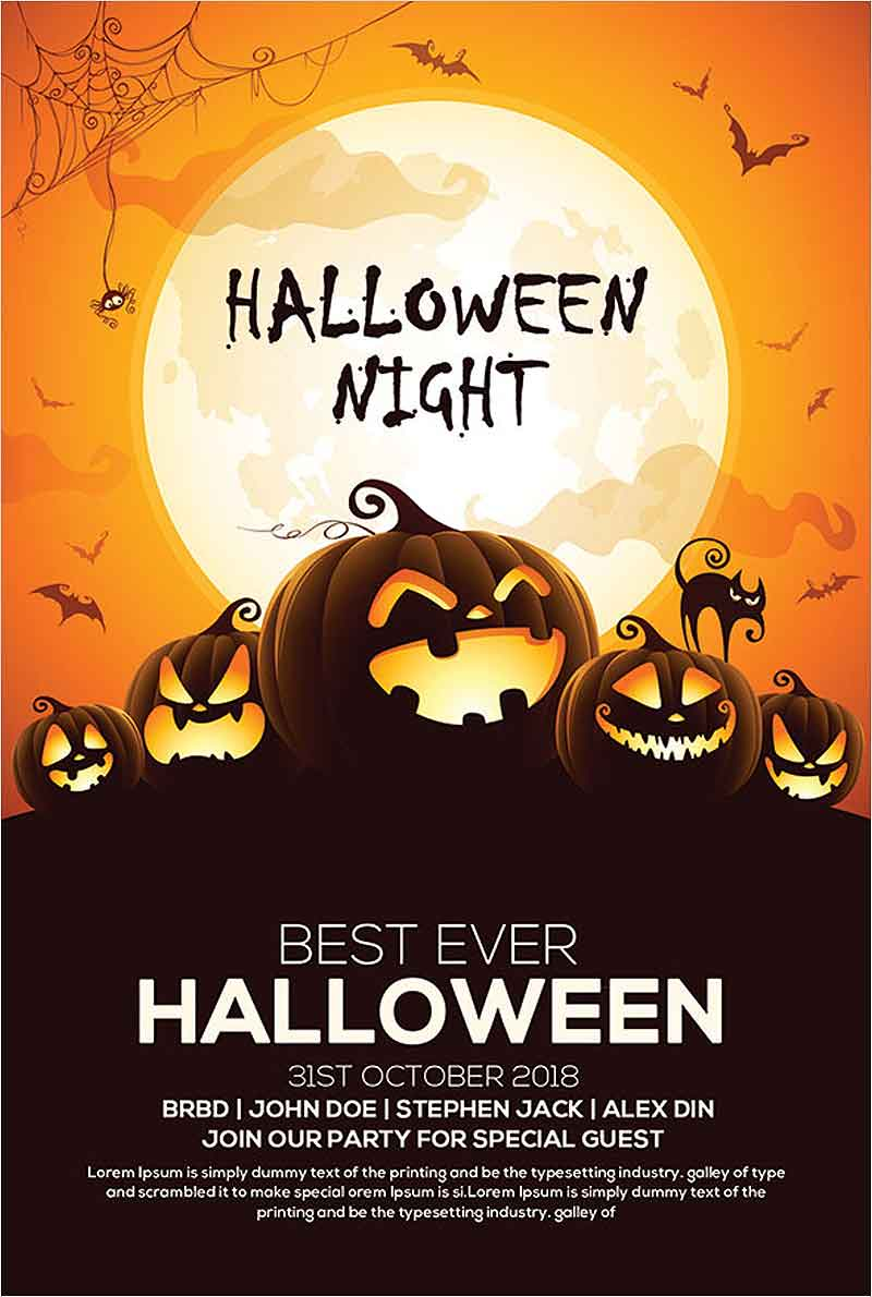 Free-Halloween-Party-Invitation-Flyer-PSD