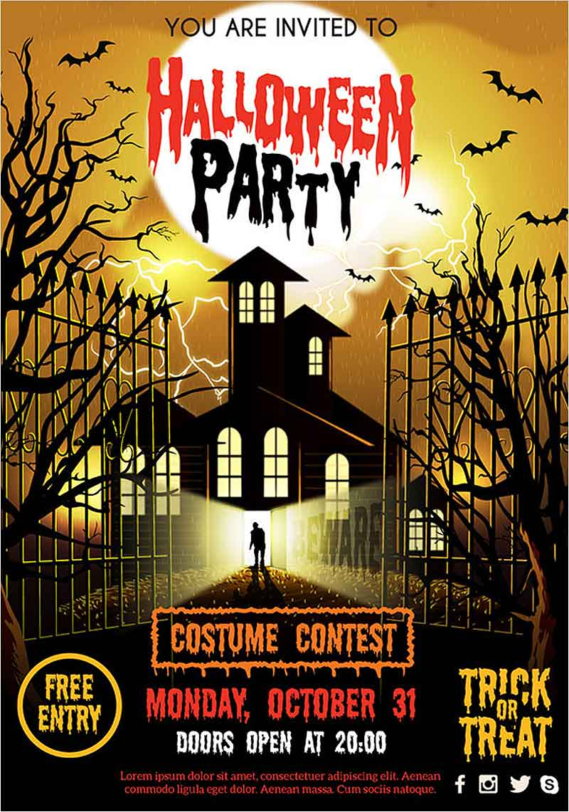 Free-Halloween-Vector-Party-Poster