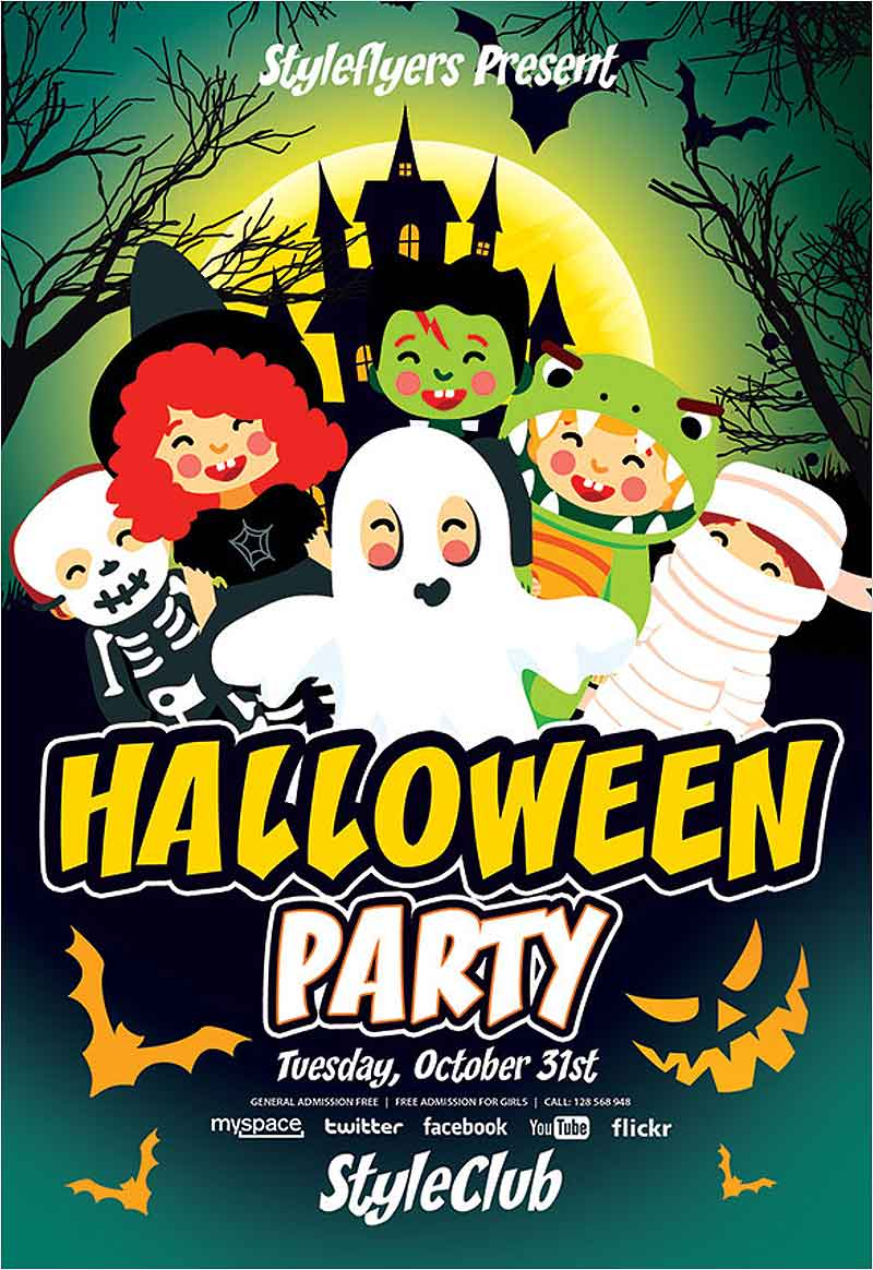 Free-Kids-Halloween-Party-Flyer-Template-PSD