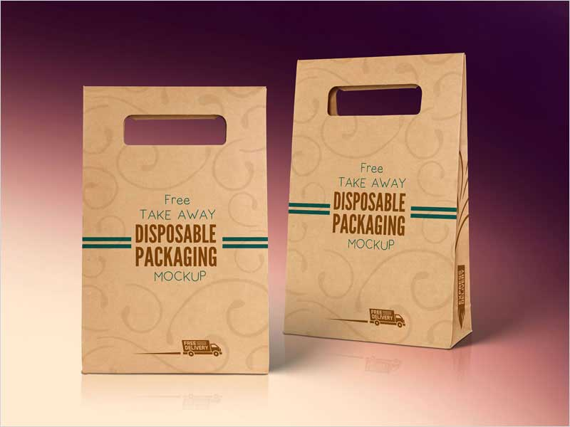 Free-Kraft-Paper-Disposable-Food-Bag-Packaging-Mockup-PSD