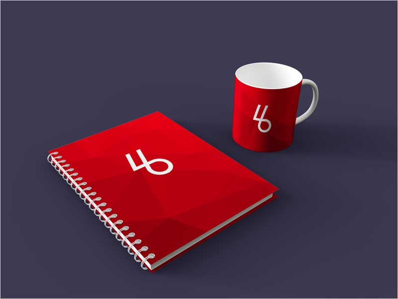 Free-Spiral-Book-with-Mug-PSD-Mockup