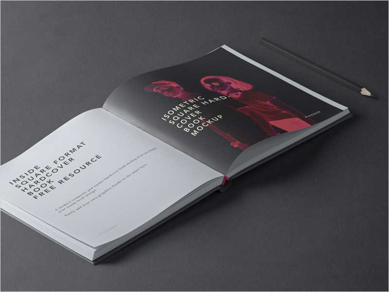 Free-Square-Psd-Hardcover-Book-Mockup
