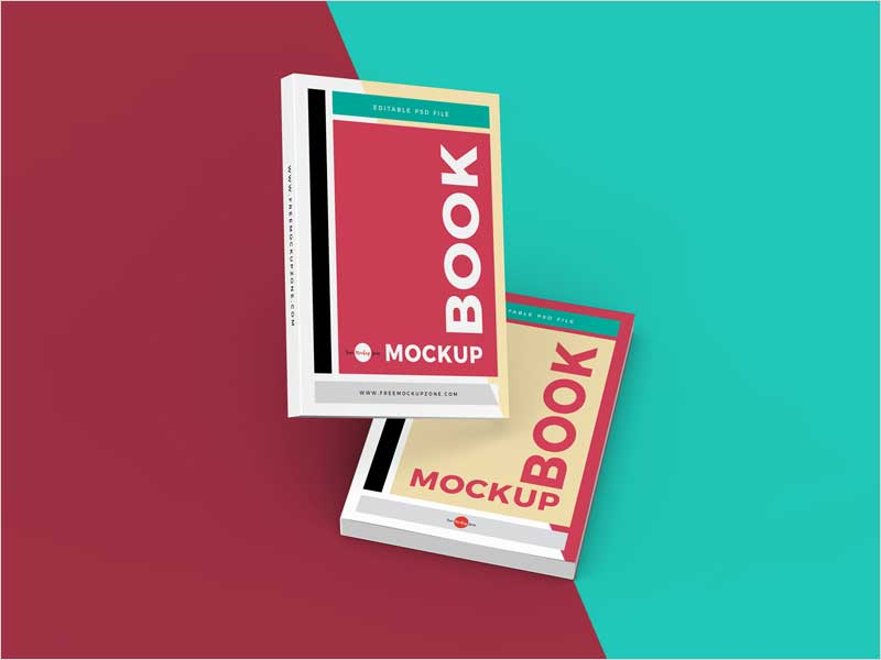 Free-Stylish-Books-Mockup-Psd