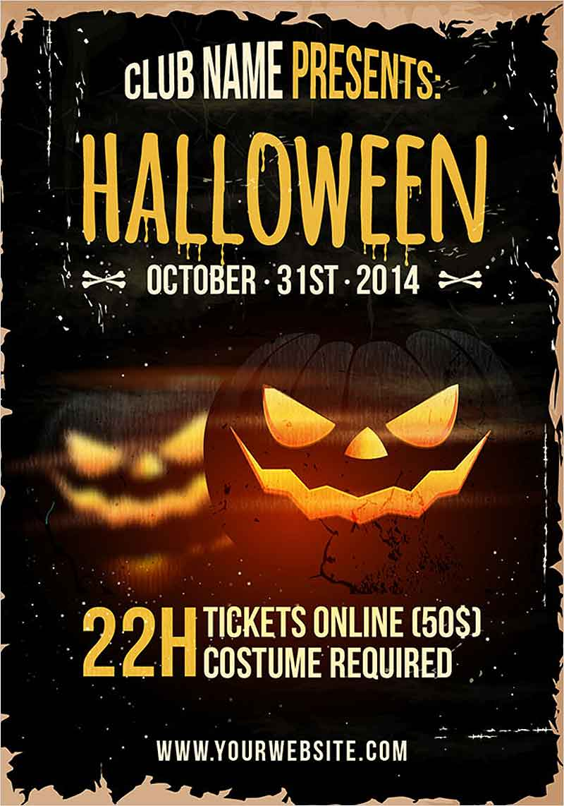 Grunge-Halloween-party-flyer