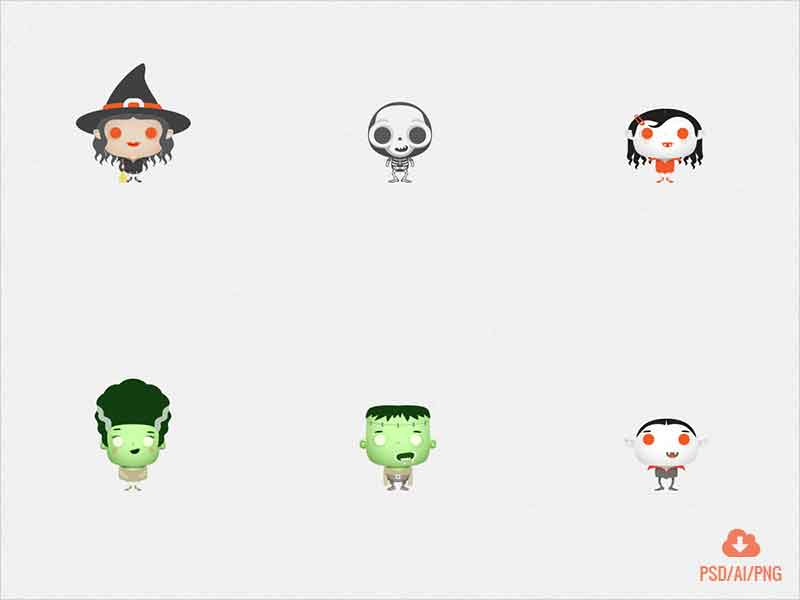 Halloween-Cute-Monsters