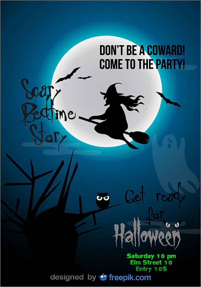 Halloween-Party-Flyer-Blue-Witch-Template
