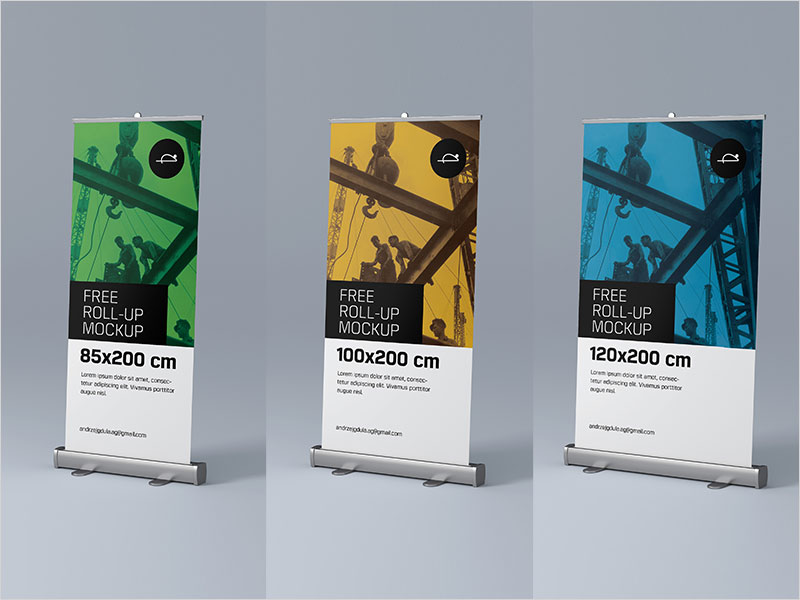50 Best Free Roll Up, Outdoor Bus Shelter and Banners MockUp for All