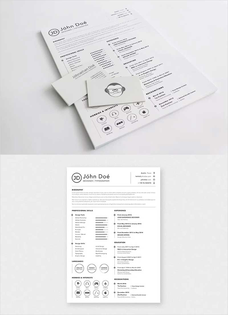 A4-Sketch-Resume-Template
