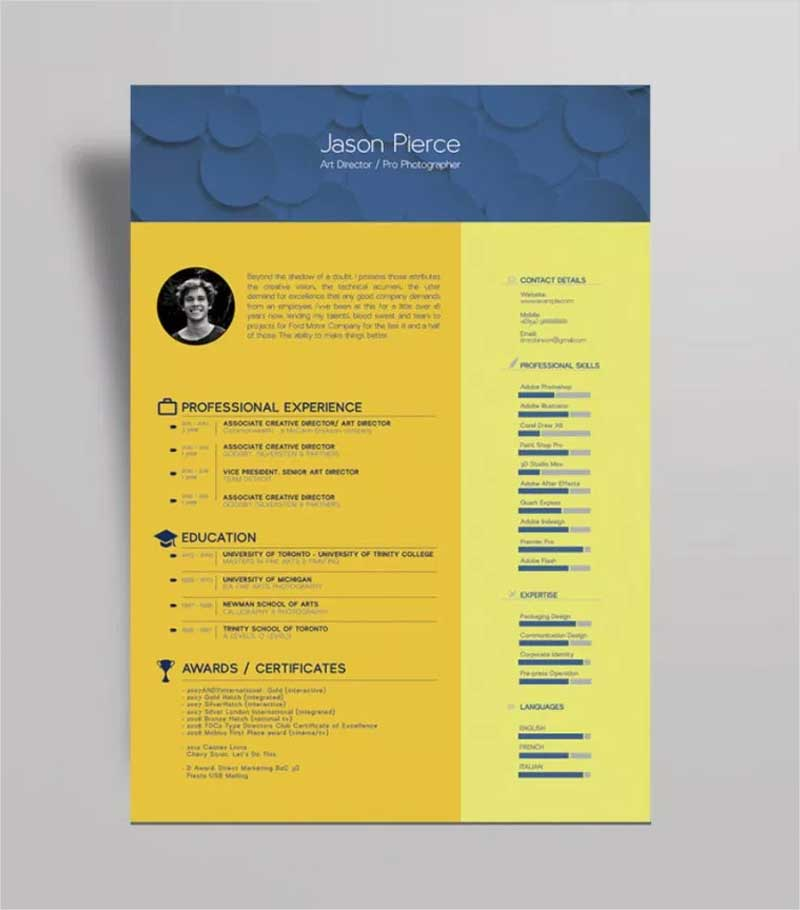 50 new and trendy free cv resume design templates for 2019