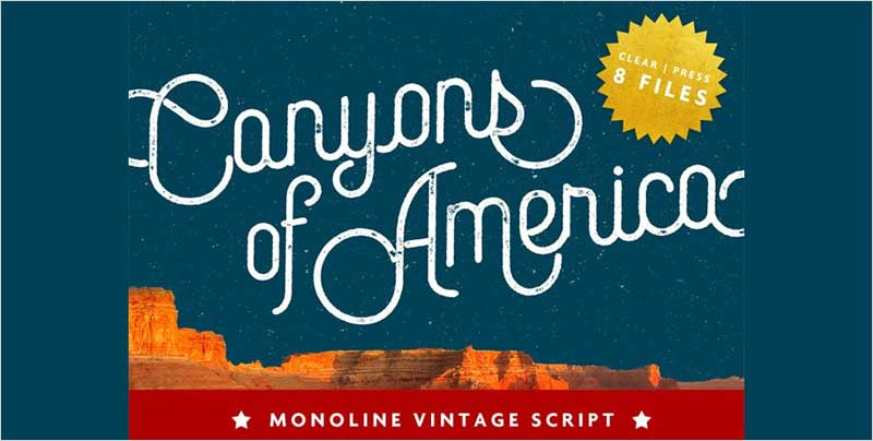 Canyons-Vintage-Script