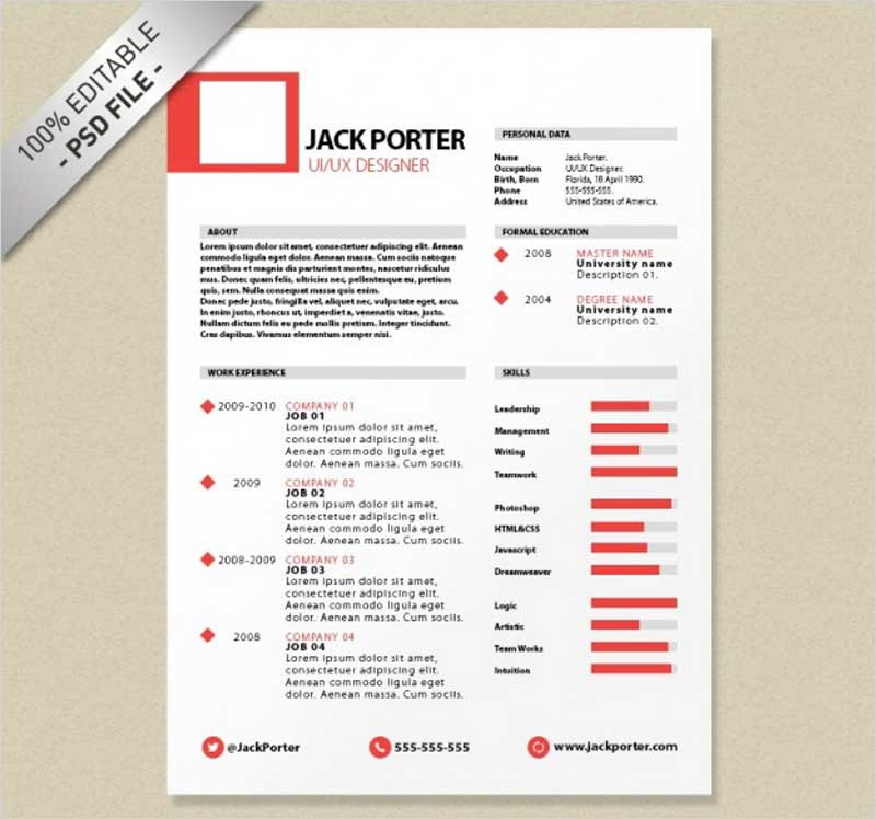 Creative-resume-template-download-free-psd