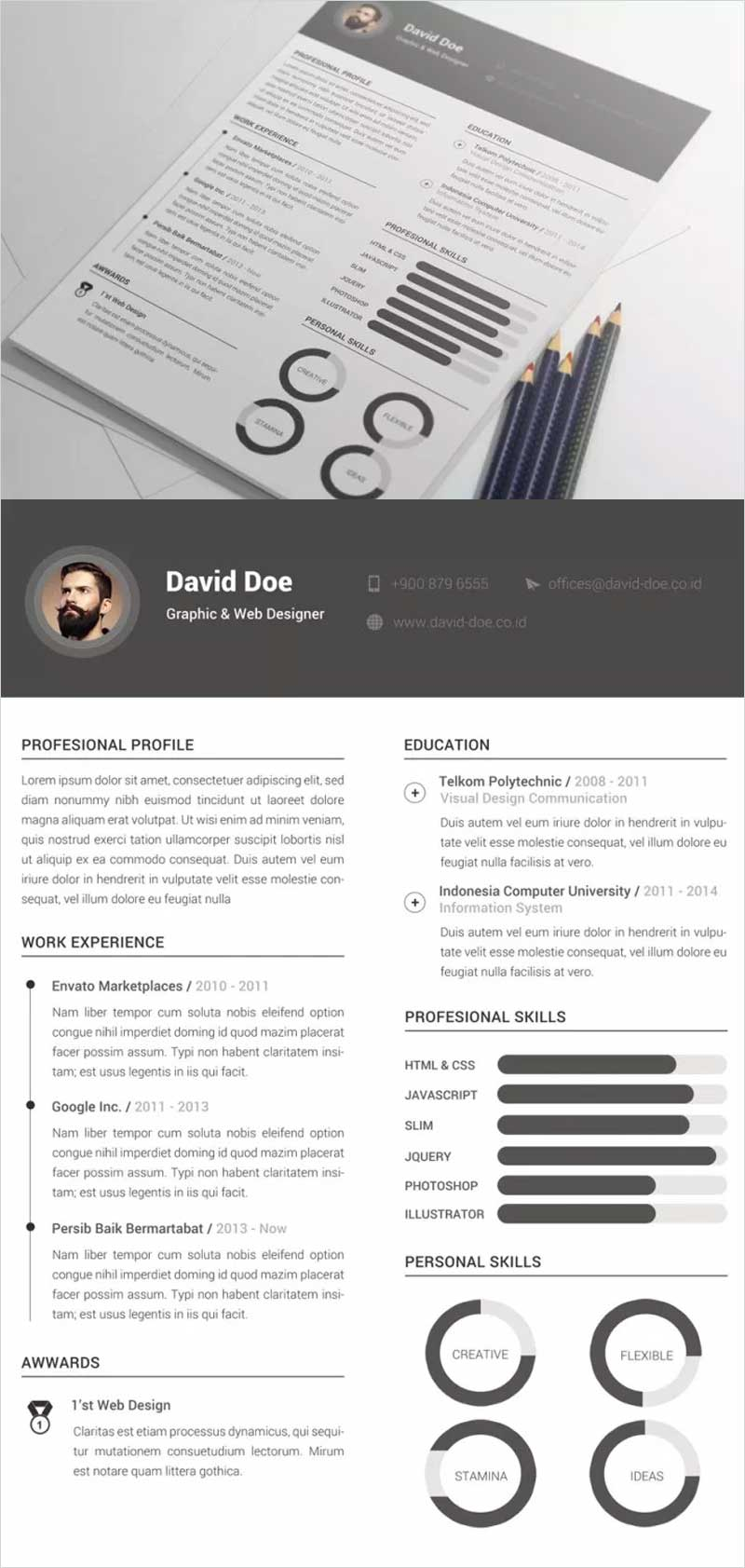 Free-Clean-Resume-Template1