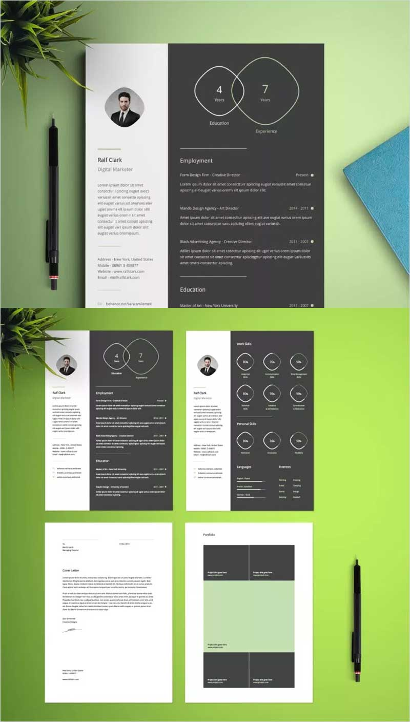Free-Infographic-Resume-Template