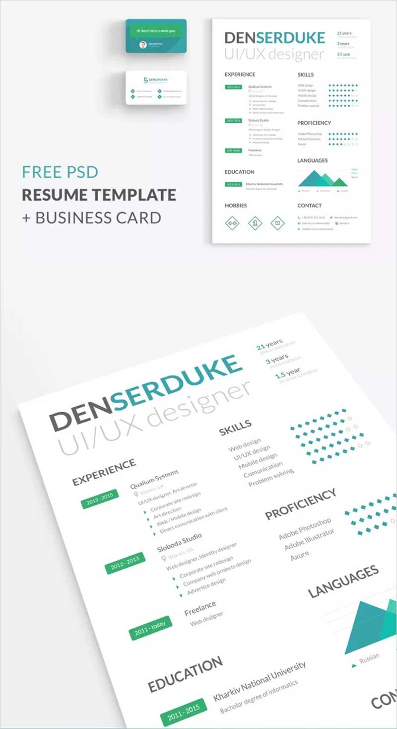 Free-Resume-+-Business-Card