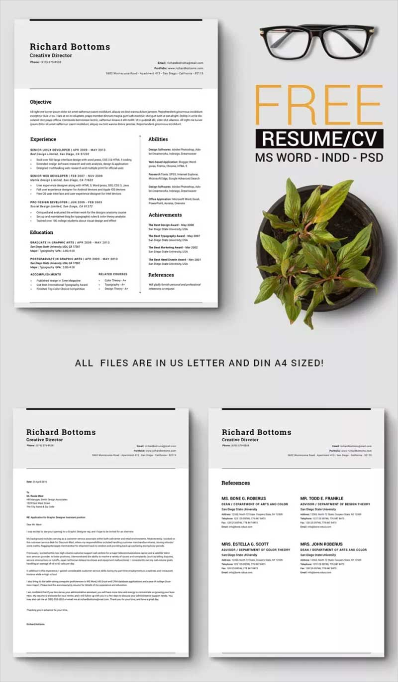 Free-Timeless-Resume-Template