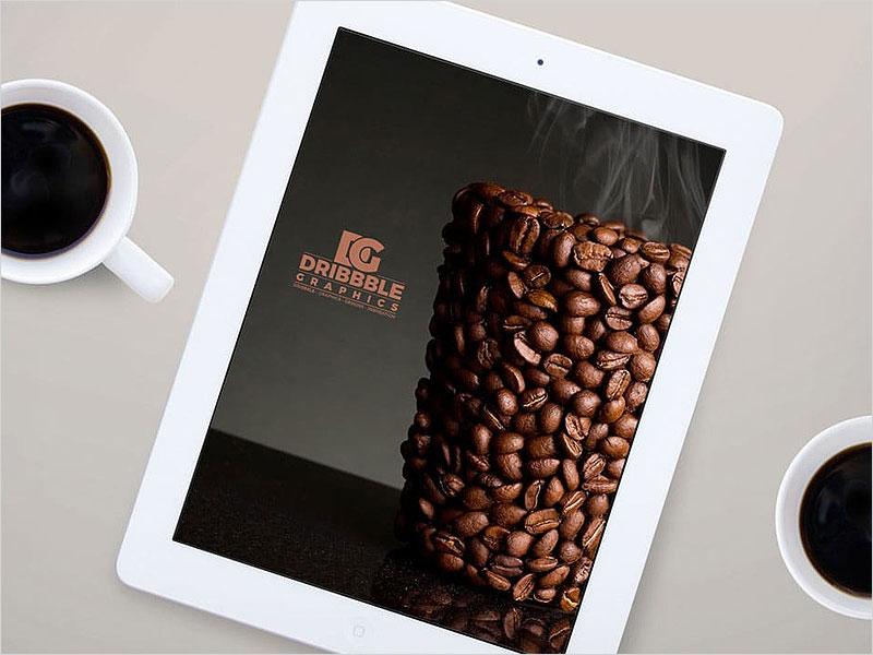 Free-iPad-MockUp-with-Coffee-Cup