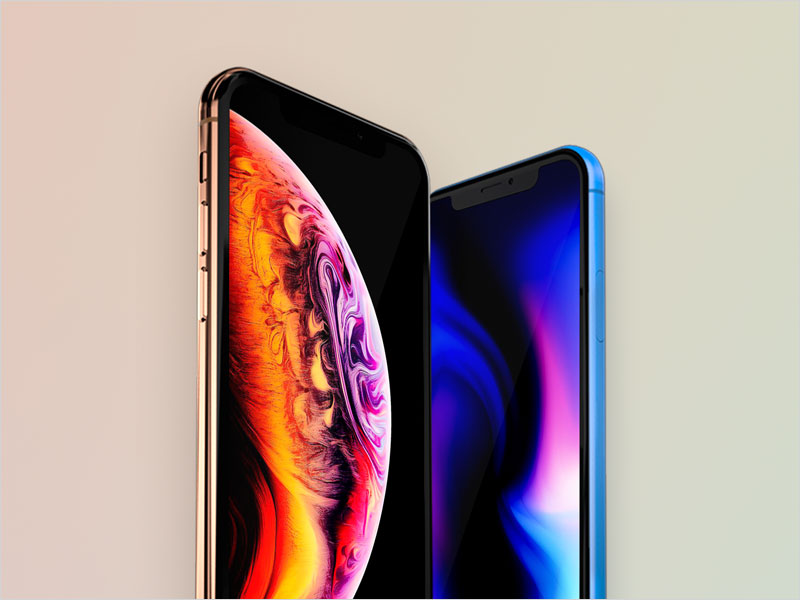 Free-iPhone-XS-&-XR-mockup