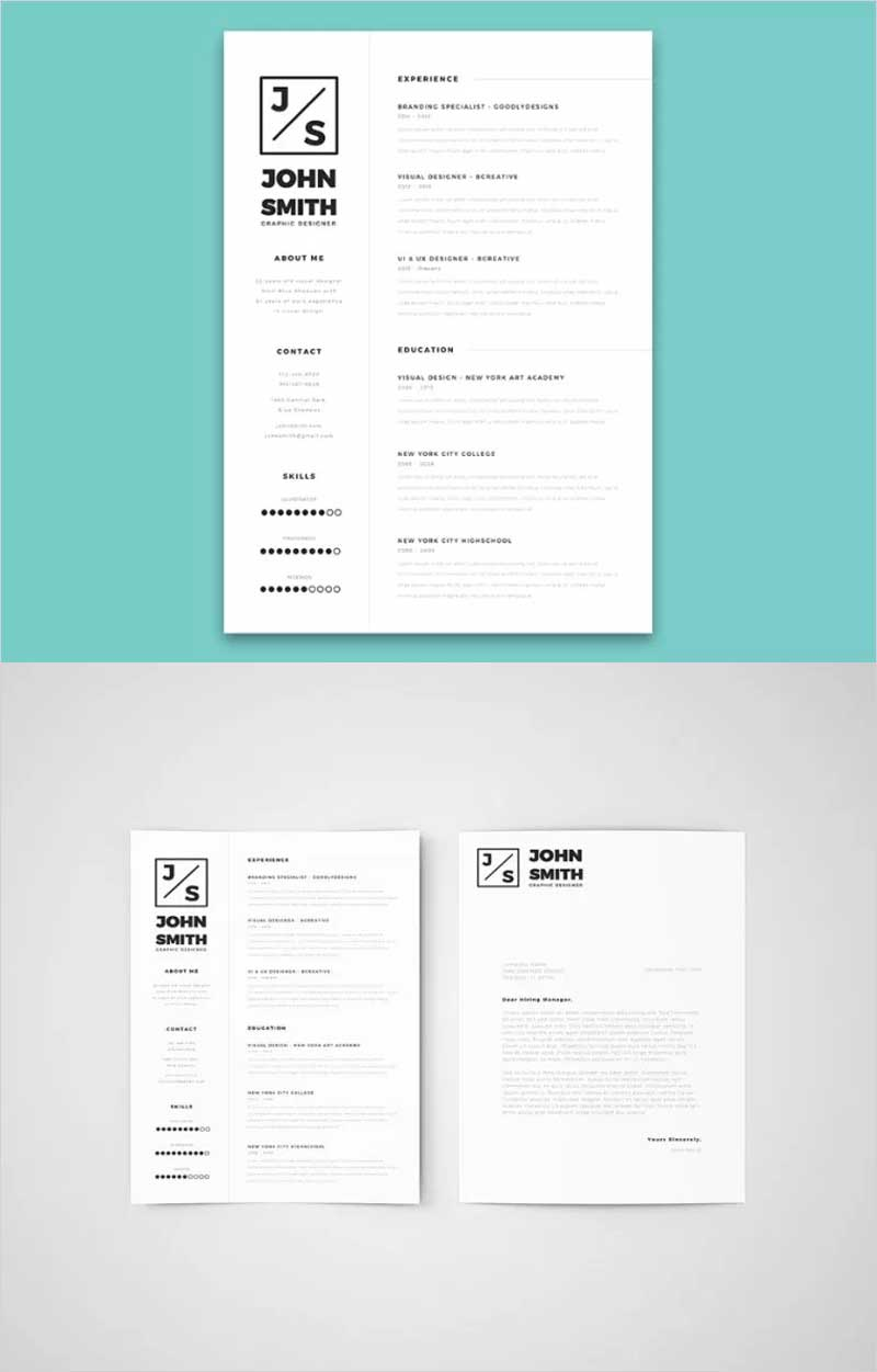 Minimalistic-Resume-&-Cover-Letter-Template