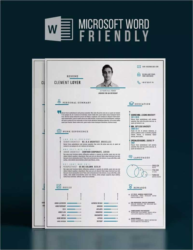 Precise-Blue-–-Word-Resume-Template