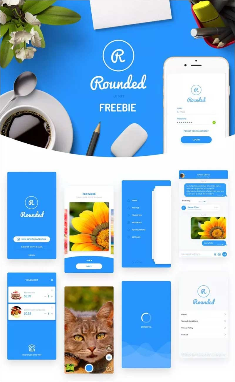 Round-Mobile-UI-Kit-Free-Demo