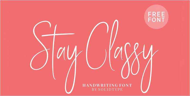 Stay-Classy-Font