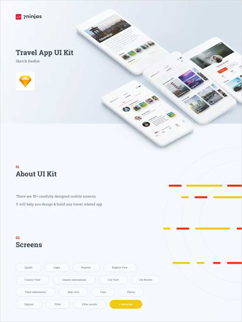 Travel-App-Free-Sketch-UI-Kit