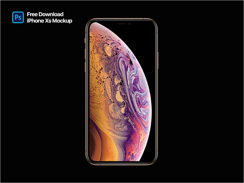 iPhone-XS-Mockup---Freebie-PSD