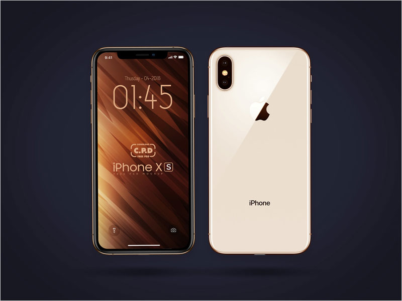 iPhone-Xs-Front-&-Back-Mockup-Free-Psd