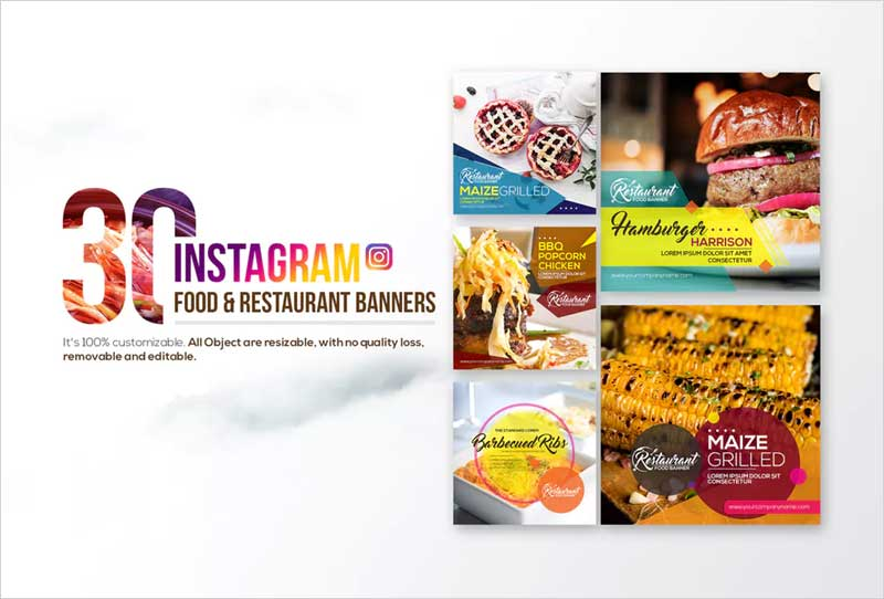 30-Instagram-Food-&-Restaurant-Banners