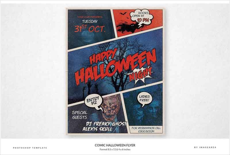 Comic-Halloween-Flyer