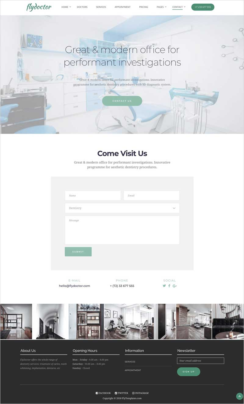 FlyDoctor-Doctor-&-Dentist-WP-Theme