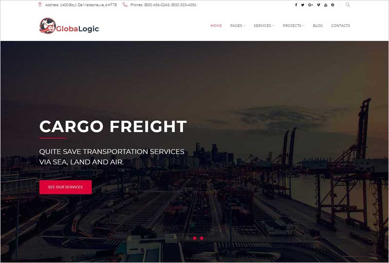 GlobaLogic-Logistic-WordPress-Theme