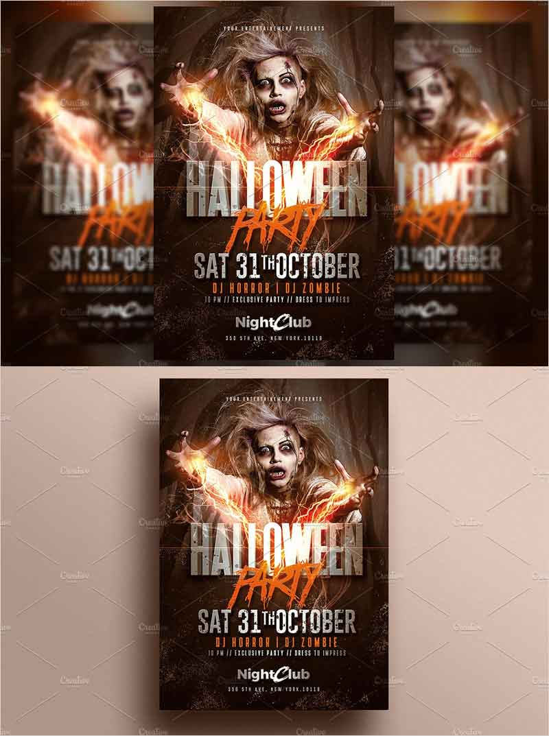Halloween-Party-Zombie-Flyer