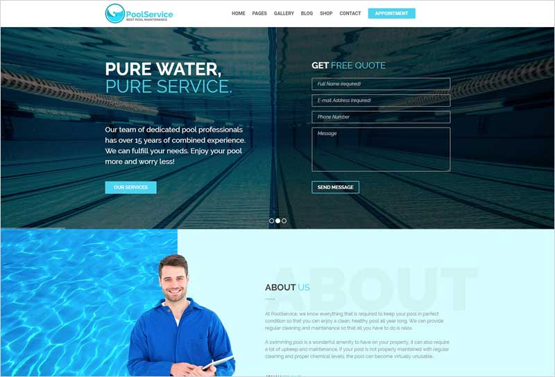 Pool-Service-WordPress-Theme