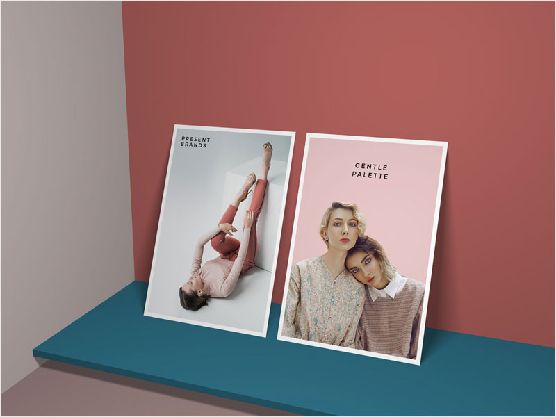 Vertical-Standing-Posters-Mockup-Free