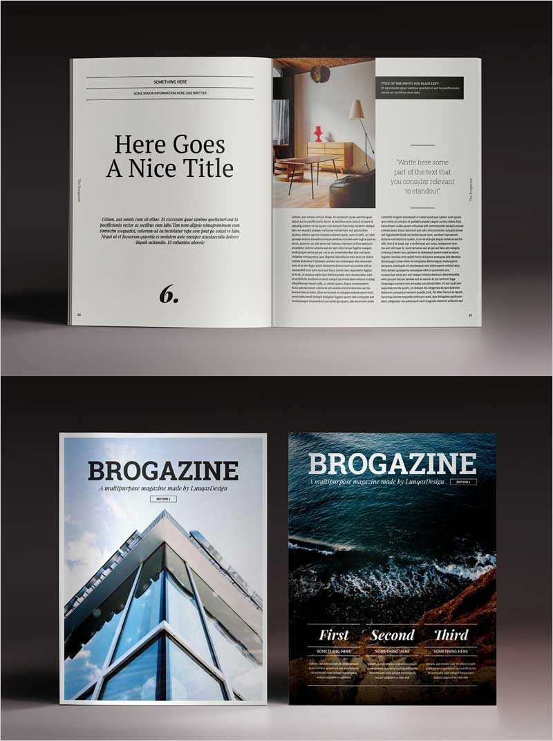 Brogazine-Indesign-Template