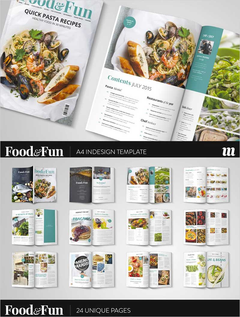 Food&Fun-Magazine-InDesign-Template