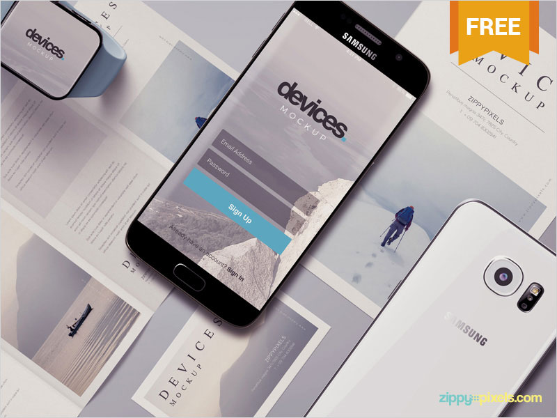 Free-Android-Mobile-Mockup-Scene