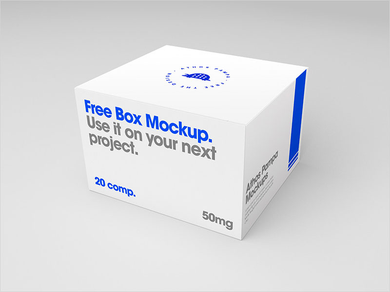 50 Free And Latest Box Packaging Mockups For 2019 50
